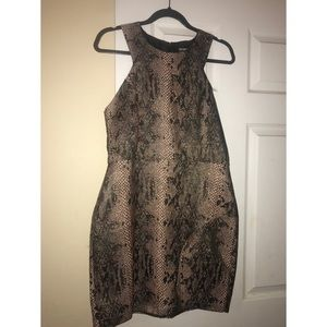 Fitted snake skin dress
